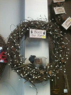 sheep wreath