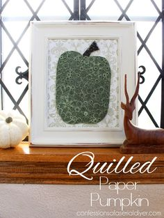 Quilled Paper Pumpkin {& $500 in Visa Gift Cards Fall Giveaway!!} | Confessions of a Serial Do-it-Yourselfer