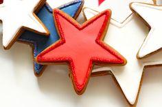 Sparkly edges cookiecak decor, star cooki