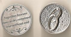 Catholic Wedding Gift For Groom : Wedding Pocket Coin. This pocket coin is a great token and reminder of ...