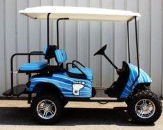 Golf Cars of Hickory UNC Tarheels Custom Golf Cart