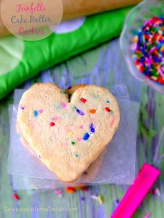 Funfetti Cake Batter Cookies at sewlicioushomedecor.com  Funfetti Cake Batter Cookies #recipe #cookies #funfetti
