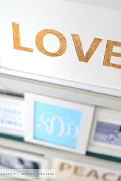 sarah m. dorsey designs: DIY Christmas Gifts: Gold Lettering Print