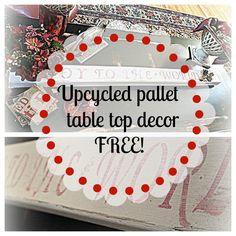 #diy #pallet table top #decor