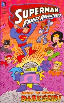 J GRA DC. Darkseid has returned dressed as a lunch lady and it is up to Superman and the Justice League to stop him.