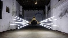 Helical Kinetic Light sculpture