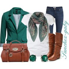 """Blazer & Scarf"" by sanchez-gaby on Polyvore"