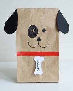 Paper Bag Dogs... would make cute giftwrap.