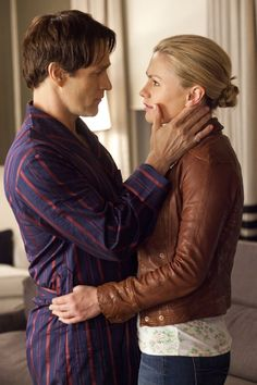 Stephen moyer and Anna paquin as sookie and Bill