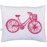 Bike Block Print Squillow Accent Pillow