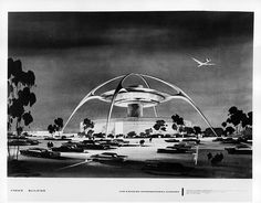 LAX Theme Building (drawing) — Designed by Paul R. Williams (1961) lax theme building, view mirror, rear view, neat place, taboofartcom xxx, build draw, retro tech