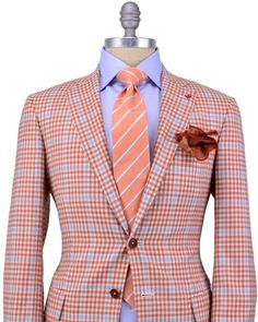 Isaia Orange Gingham and Blue Windowpane....I have this one...love it!