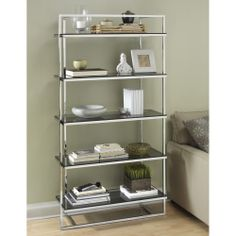 Manhattan Tall Stainless Steel Shelving Unit by tfg | Organize.com