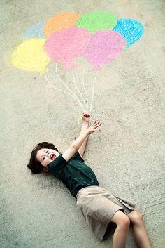 sidewalk chalk balloons
