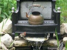 Repurposed pond waterfall