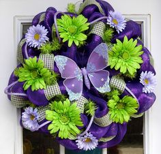 Daisy May Spring And Summer Mesh Wreath