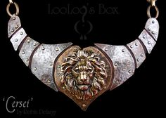 This totally rocks!!!!   Metalwork LION Necklace Inspired by Cersei Lannister by LooLoosBox