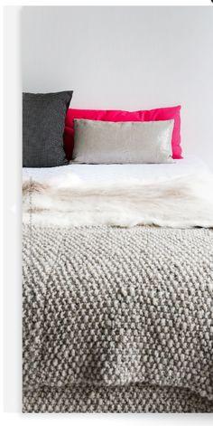 pink pillow britta nickel, shop, neutral bedroom, interior, bedroom idea, guest bedrooms, grey, bedroom inspir, pink