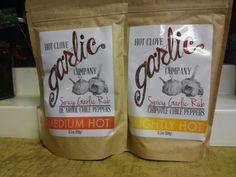 New gourmet spices at Danette's Urban Oasis. Hot Clove Garlic Company's Spicy Garlic Rubs