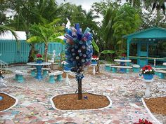 this is what I want to copy. The ghost bottle tree by calamity kim, via Flickr voodoo bottle trees, galleri, capes, art, cape coral, bottles, ghost, bottl tree, light
