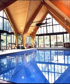 Indoor Pool with airplane....