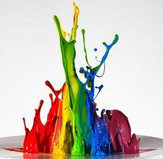 Vivid splashes of color