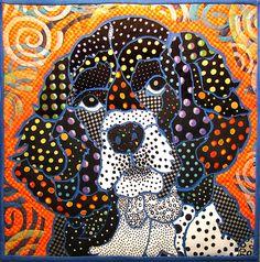 Polkadot Mac by Nancy Messier   art quilt