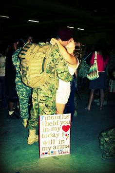 Army Strong. We made it through deployment stronger and more in love. So happy to have him home safe and sound!