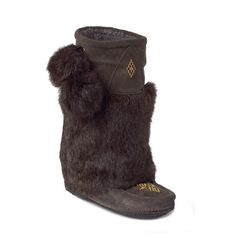 Manitobah Unisex Mid Classic Mukluk with Crepe Sole Sheepskin Lined Suede Boot with Rabbit Fur