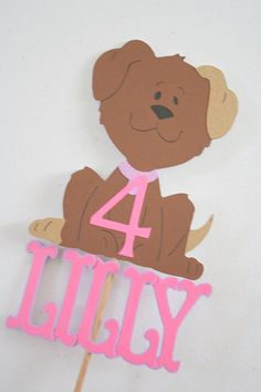 Puppy Dog Puppy Love Cake Topper  Available in any by maddylus1, $13.00