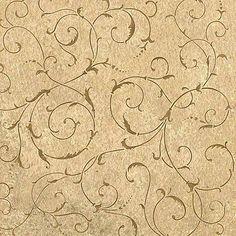 Lily Scroll Allover Stencil