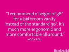 Vanity height suggestion.