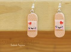 Band aids bandaid, craft, clay charms, aid earring, nurse clay charm, band aid, polym clay, polymer clay, earrings