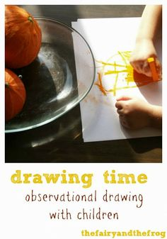 The fairy and the frog: Observational drawing with children