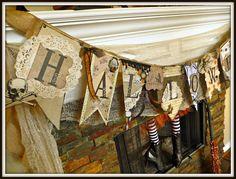 Adorable mantel & pennant banner