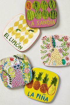 Paloma Coasters. Love the bright fun colors.