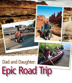 Bob Vogel and his daughter, Sarah, hit the road.