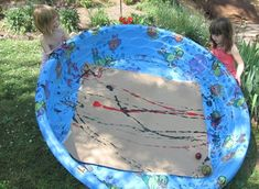 oversize marble painting with balls