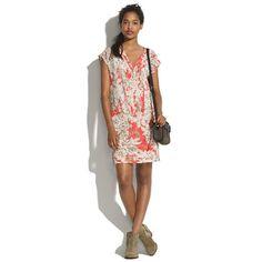 Silk Flowersketch Matchbook Dress