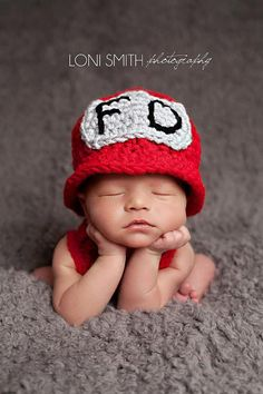 Firefighter Hat - Crochet Newborn Baby Beanie Boy Girl Costume Winter Christmas  Photo Prop Cap Outfit on Etsy, $24.99