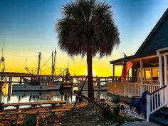 """Beaufort S.C.'s downtown marina at sunset. It was proclaimed the nation's Happiest Seaside Town earlier this year.  Coastal Living magazine proclaimed Beaufort the nation's Happiest Seaside Town citing """"Lowcountry friendliness and urban refinement …antebellum architecture, exquisite local cuisine, and rich African-American heritage."""" http://www.usatoday.com/story/travel/destinations/2013/08/01/in-beaufort-sc-history-and-happiness-go-hand-in-hand/2610695/"""
