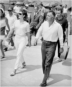 Jackie O., rocking her Jack Rogers sandals! Love them!