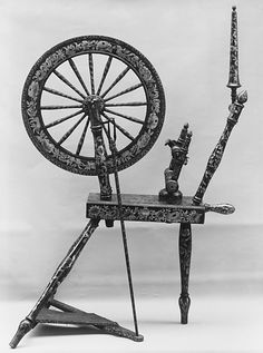 Spinning Wheel  Date: late 18th–early 19th century Culture: English Dimensions: H. 34-1/2 in. (87.6 cm)