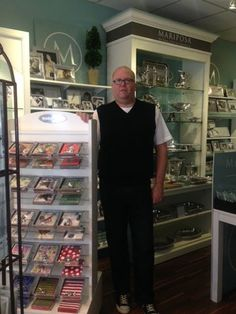 Paul Cunningham, owner of P. Francis on Asbury Avenue, in his new storefront in the 800 block.