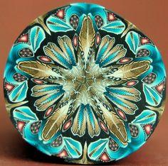 clay circl, circl kaleidoscop, kaleidoscop cane, cane kaleidoscope, cane tacincala, polym clay, polymer clay canes