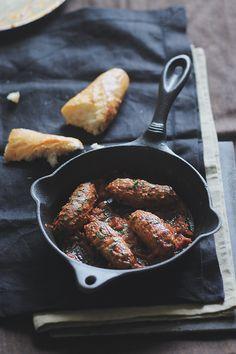 Soutzoukakia smyrneika: meat balls in a tomato sauce with cumin & cinnamon seasoning. #Greece #kitsakis
