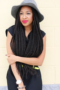 Box Braids.....I just LOVE this whole look!!!!