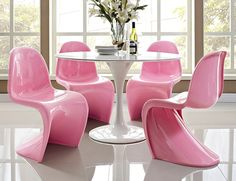 modern slink chairs!  table set in seperates