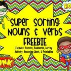 Super Sorting: Nouns & Verbs