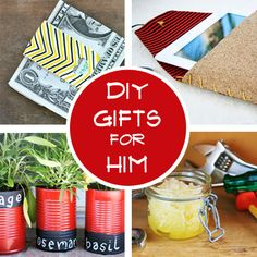 DIY Gifts for Him - A Handsome Handmade Holiday Simple gifts he's sure to love